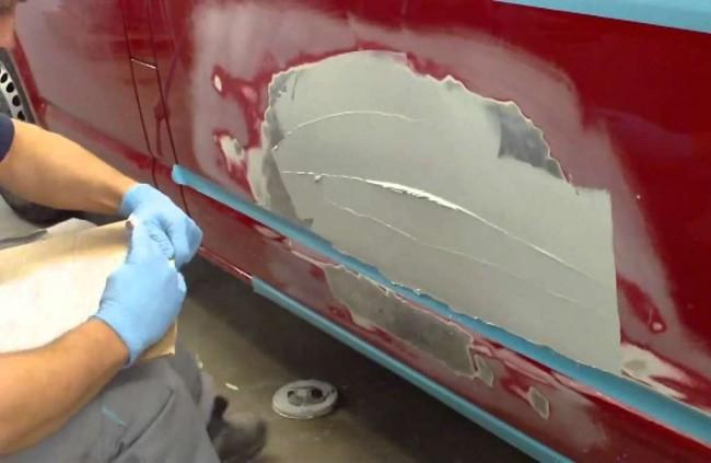 Как правильно шпаклевать и покрасить авто