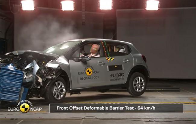 Краш-тест Euro NCAP Citroen C3