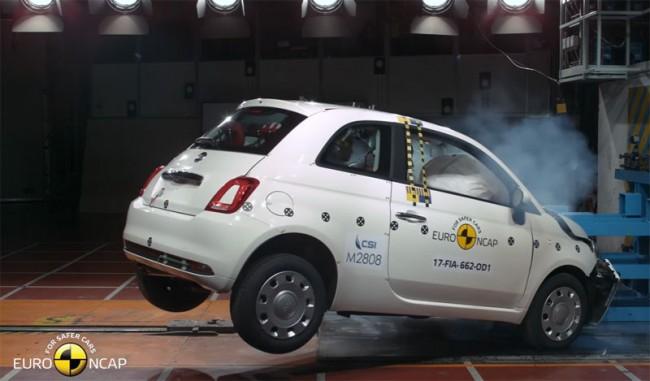 Краш-тест Euro NCAP Fiat 500