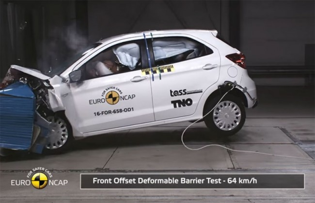 Краш-тест Euro NCAP Ford Ka+