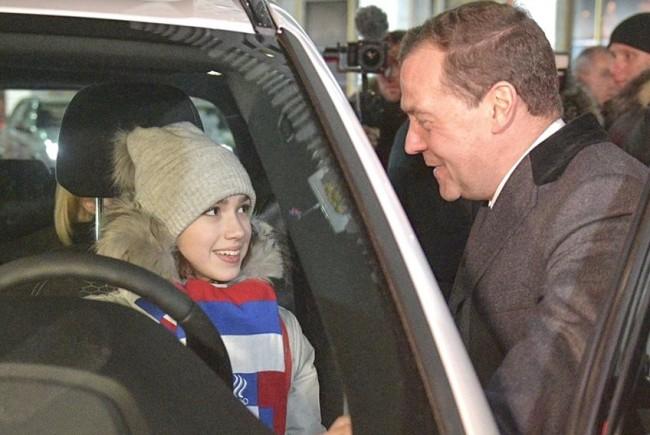 Дмитрий Медведев и Алина Загитова