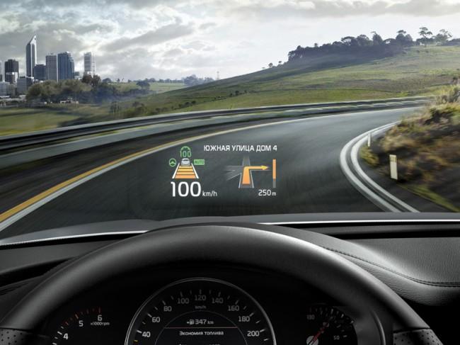 Проекционный дисплей Kia Sorento Prime