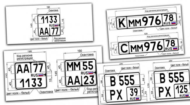 Новые автомобильные номера в соответствии с ГОСТ Р 50577-2018