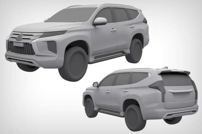 2020 Mitsubishi Pajero Sport (патентные изображения)