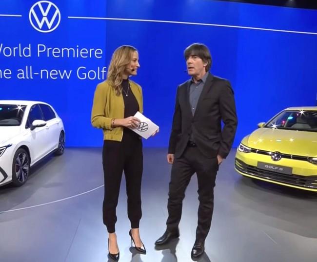 Йоахим Лёв на презентации Volkswagen Golf восьмого поколения