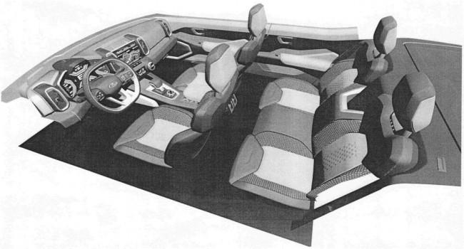 Патент на интерьер Lada 4x4 нового поколения