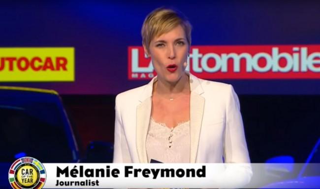 "Мелани Фримонд на церемонии конкурса ""Автомобиль года в Европе 2020"""