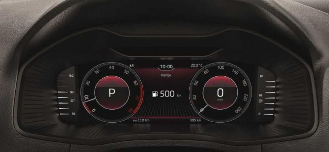 Цифровая панель в Skoda 2021 модельного года