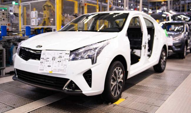 Производство 2021 Kia Rio на заводе в Санкт-Петербурге