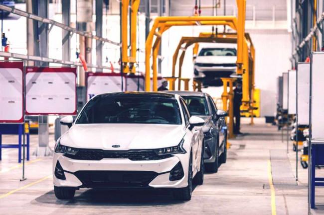 Производство автомобилей Kia на заводе «СарыаркаАвтоПром» в Казахстане