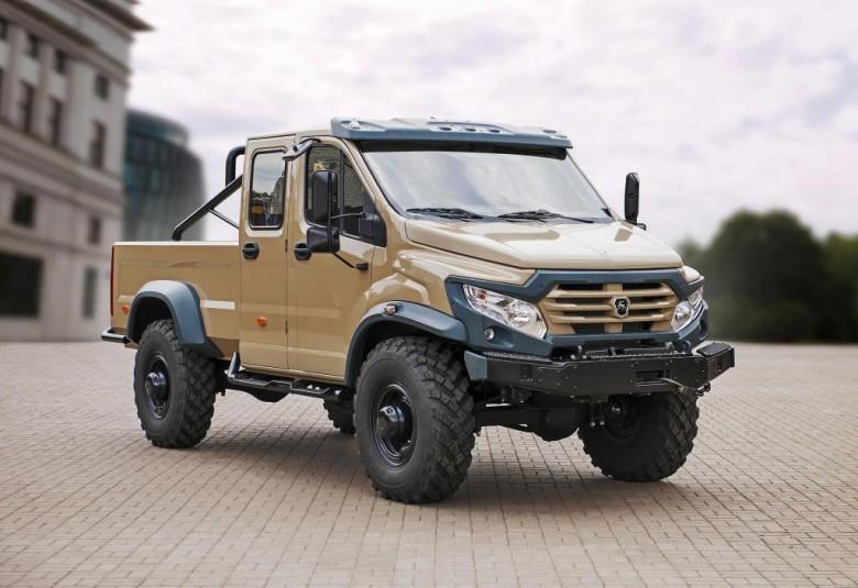 ГАЗ впервый раз продемонстрировал экстремальный внедорожник-пикап «Вепрь NEXT»