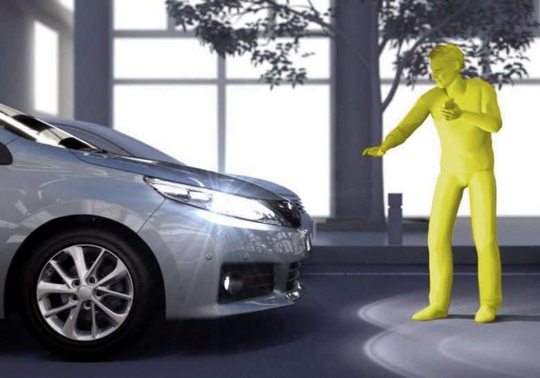 Система фиксации пешеходов TSS от Toyota