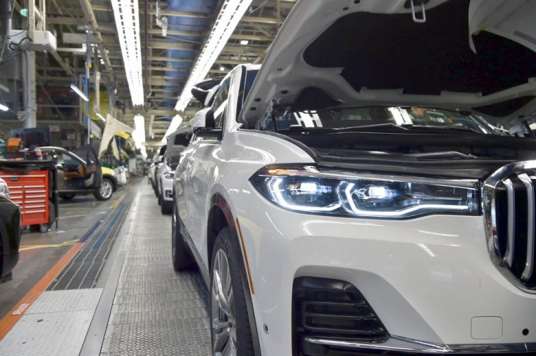 2019 BMW X7. Конвейер завода в Спартанбурге, США