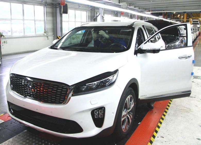 Производство Kia Sorento Prime на заводе