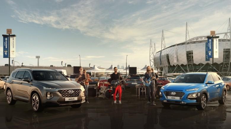 Hyundai снимает рекламный клип с участием Maroon 5