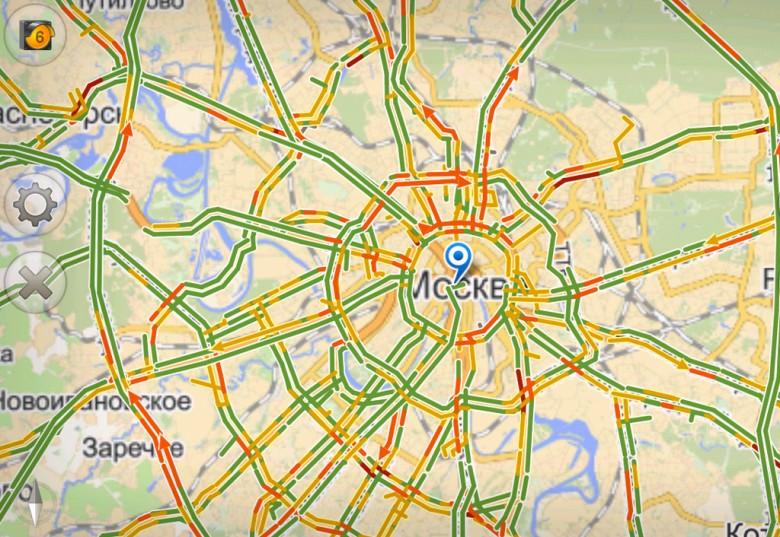 Загруженность дорог вцентральной части Москвы достигла максимума за 5 лет